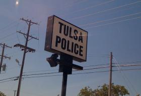 The sign in front of east Tulsa's Mingo Valley Division