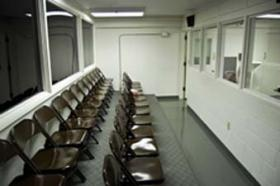 Witness room at state death chamber