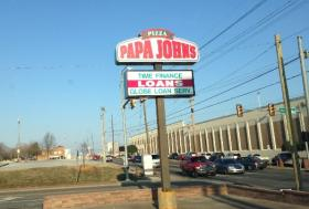The sign in front of the 11th and Delaware business.