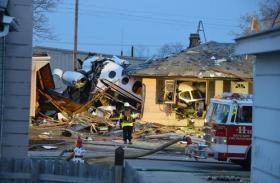 The plane crash site that killed two Tulsans