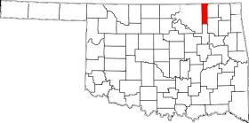 Washington County is north of Tulsa