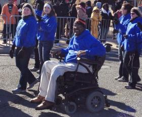 Nate Waters in this year's Tulsa MLK Parade.