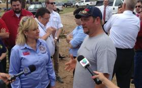 Governor Fallin meets with tornado victims today