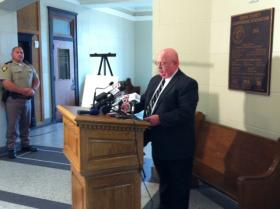 The OSBI Director holds a news conference in Sapulpa