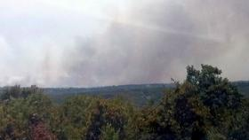 A file photo of a wild fire in Pawnee County in 2011