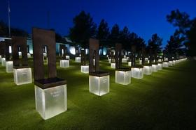 The empty chairs at the OKC Memorial