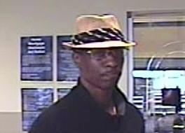 Tulsa Police released this photo of the robbery suspect inside the credit union.
