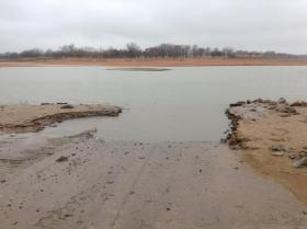 Water levels are low at Lake Canton