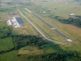 Claremore Airport from the air