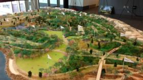Scale model of the proposed park.