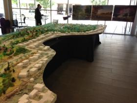 A model is on display at the TCC Center for Creativity.