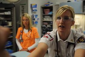 EMSA staffer in an emergency room.