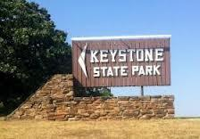 The sign at the Keystone State Park on Lake Keystone