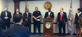 Law Agency Representatives announce Violent Crime crackdown results