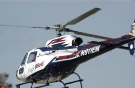 An EagleMed helicopter similar to the one that crashed.
