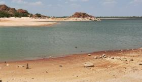 The drought is impacting Lake Altus