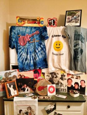 Just some of Mona Meacham's Monkee Memorabilia
