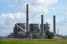 OG & E coal fired plant at Muskogee