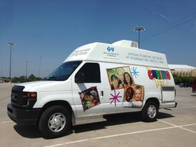 The Caring Van at the Tulsa Fair grounds.