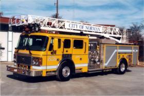 A Norman Ladder fire truck
