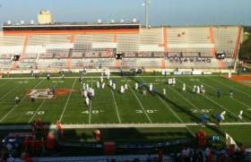 TU warms up at Bowling Green prior to last night's kick-off
