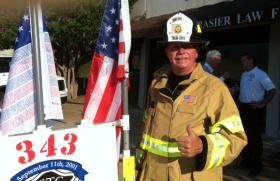 Lance Robinson is hiking across the nation to honor firefighters and other first responders