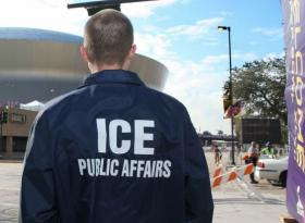 An ICE agent in file photo.