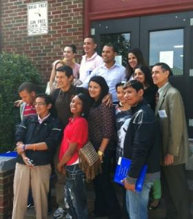 Visitors from 10 South American countries visit the Tulsa Street School
