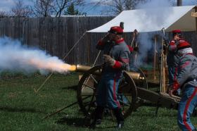The Honey Springs Battle re-enactment