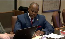 State Representative Kevin Mathews takes part in interim study.