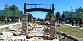 Entrance to new Kendall Whittier neighborhood park