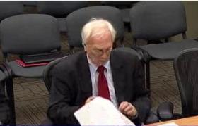 Tulsa Finance Director Mike Kier at yesterday's council budget briefing.