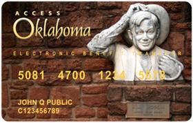 A sample of an Oklahoma SNAP card