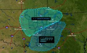 Expect rain across much of eastern Oklahoma