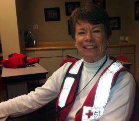 Red Cross volunteer Gretchen Haugh