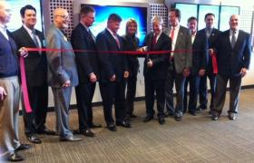Ribbon cutting at L-3 Aeromat