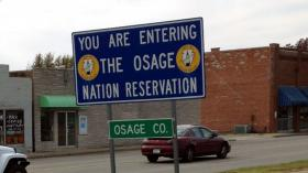 The Osage Nation sign at Skiatook