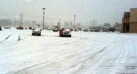 The parking lot at 51st and South Harvard