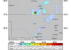 USGS Map of this morning's quake.