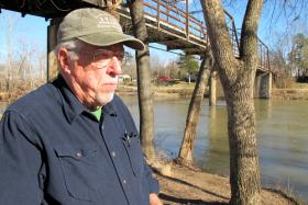 Ed Brocksmith along the Illinois River near Tahlequah.