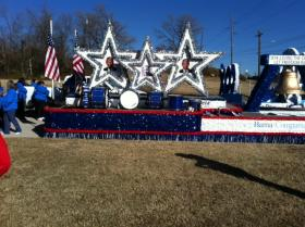 One of the floats in the Tulsa King Parade.