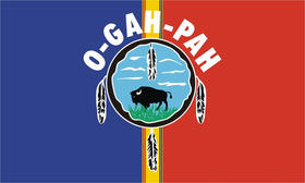Quapaw Tribal flag