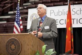 Chief Bill John Baker makes the announcement