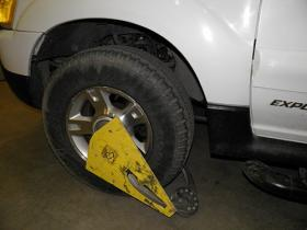 A booted vehicle in Tulsa.