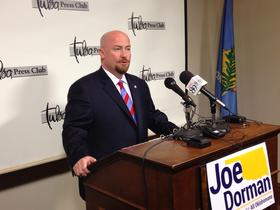 State Rep. Joe Dorman (D-Rush Springs) formally announces Tuesday he will run for governor. Dorman made campaign stops in Oklahoma City and Tulsa.