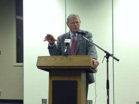 Sen. Jim Inhofe visited the Port of Catoosa Tuesday to give an update on related issues in Washington. The conversation soon turned to problems in Ukraine.