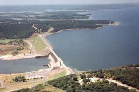The Lake Eufaula dam