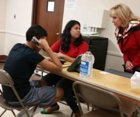 File photo of Mary Fallin visits the Immigration Center at Fort Sill