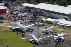 The Farnborough Air and Industry Show is outside of London.