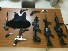 Stolen items Gang Unit officers recovered.